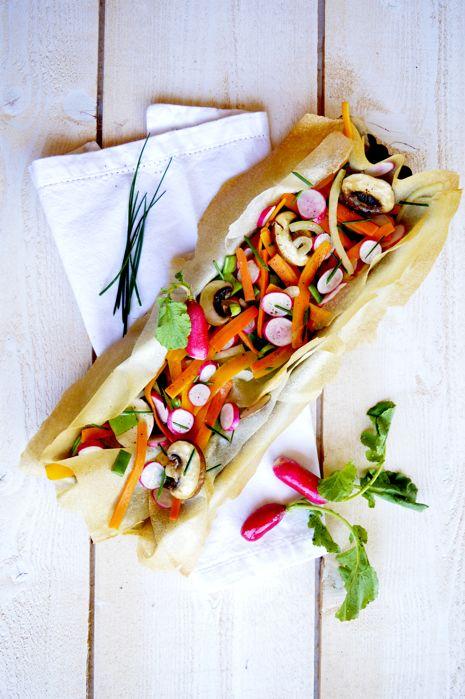 Tarte croustillante aux Légumes du Marché et radis