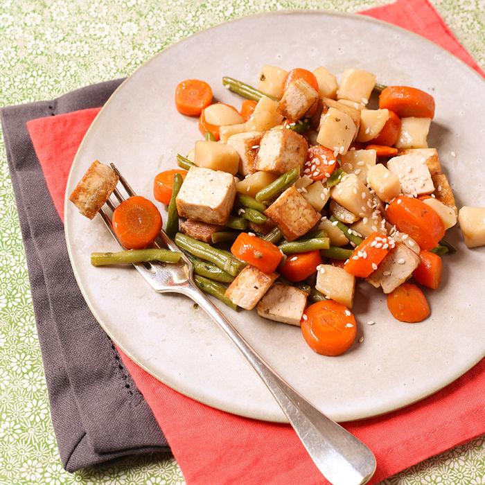 Poêlée provençale au tofu