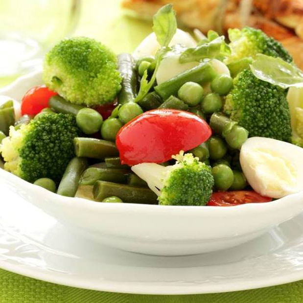 Salade aux 3 Légumes verts et Mozzarella