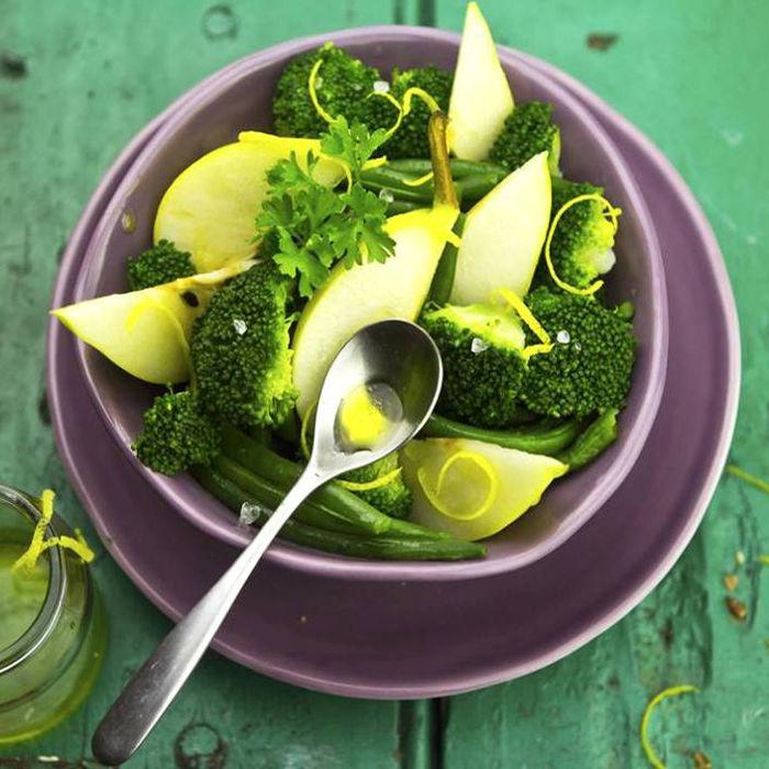 Salade de Brocolis, Haricots verts et Pommes