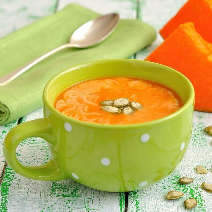 Soupe Potiron, Carottes et Pistaches
