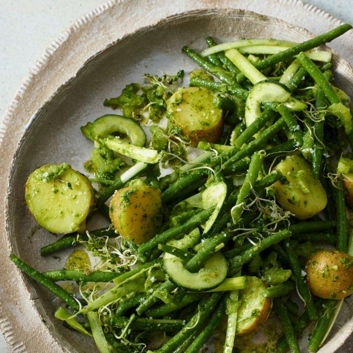 Salade de Pommes de terre et Haricots verts au pesto