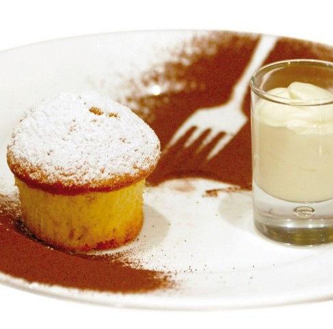 Muffins de maïs et sa crème de mascarpone