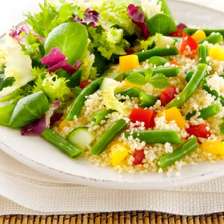 Salade de semoule et haricots verts