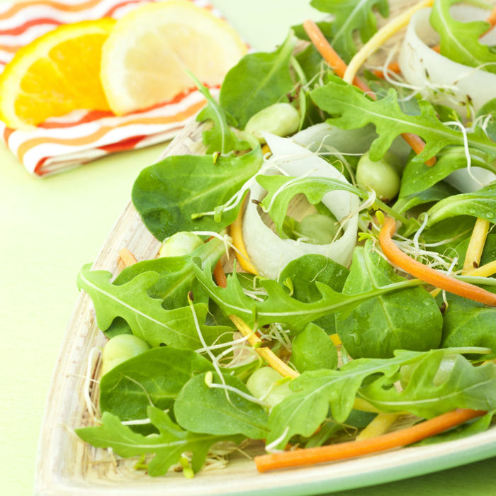 Mâche, Roquette & légumes croquants