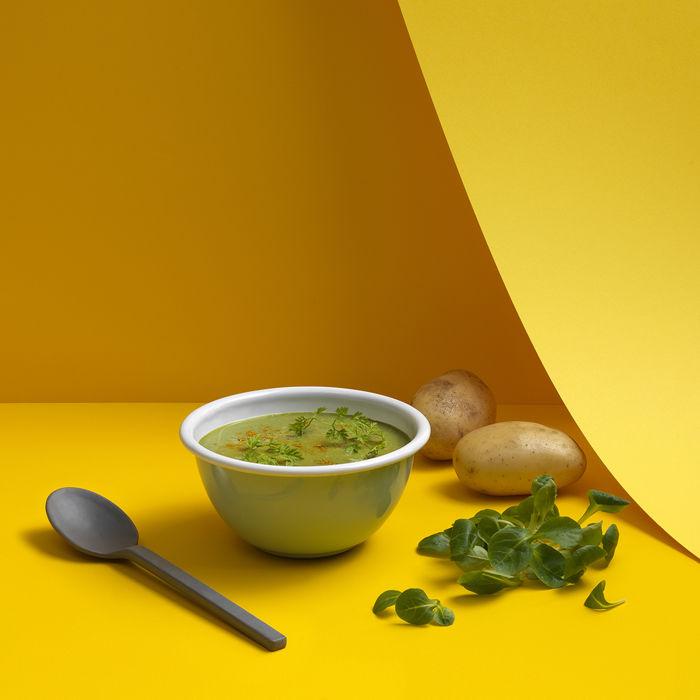 Soupe de mâche au curry