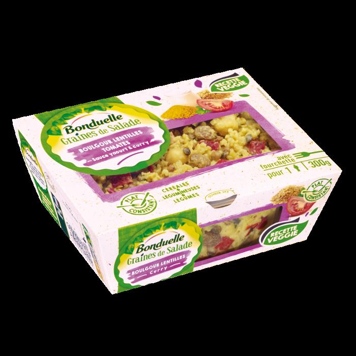 GRAINES DE SALADE - Boulgour, lentilles, yaourt et curry