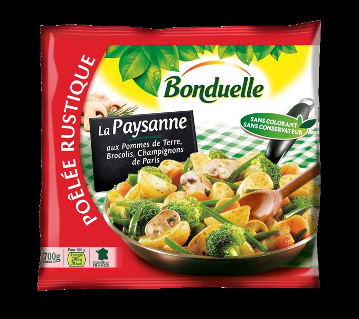 Poêlée La Paysanne - Pommes de terre, Brocolis, Champignons de Paris