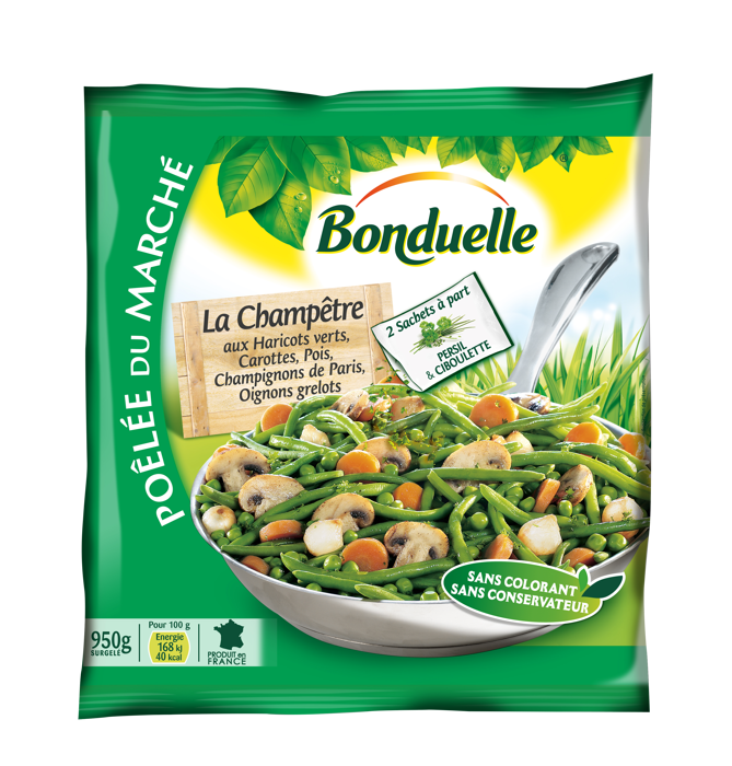 Poêlée La Champêtre - Haricots verts, Carottes, Pois