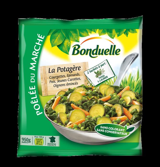 Poêlée La Potagère - Courgettes, Epinards, Pois