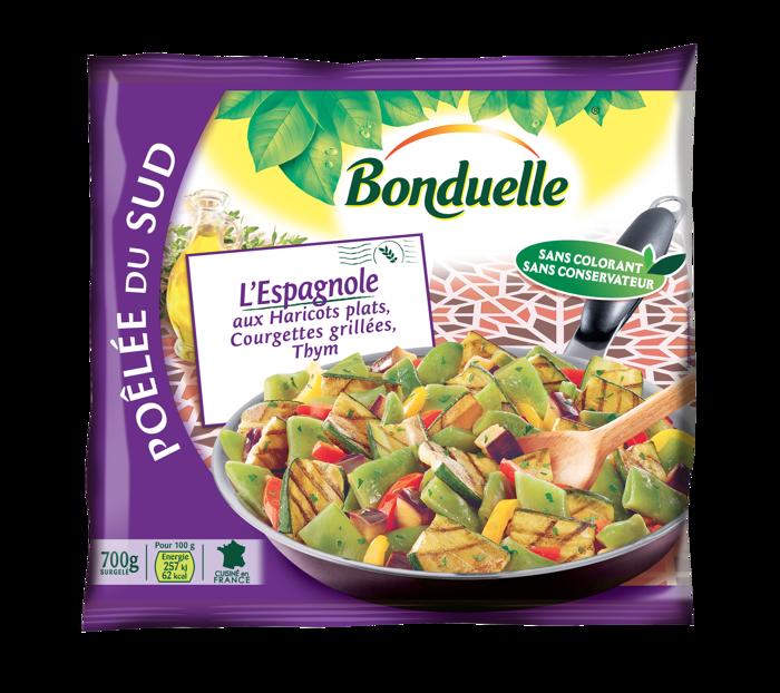 Poêlée L'Espagnole - Haricots plats, Courgettes grillées, Aubergines