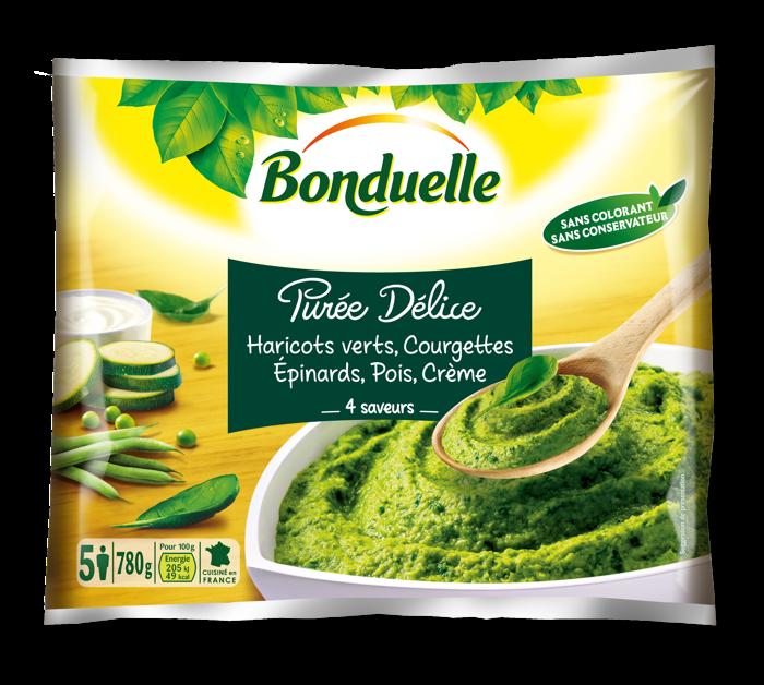 Purée Délice - Haricots Verts, Courgettes, Epinards, Pois, Crème - 4 saveurs