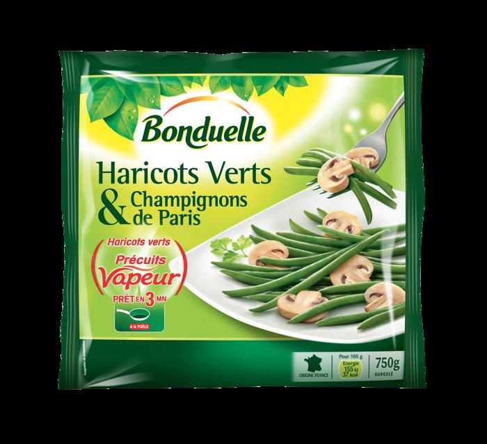 Haricots verts et champignons de Paris
