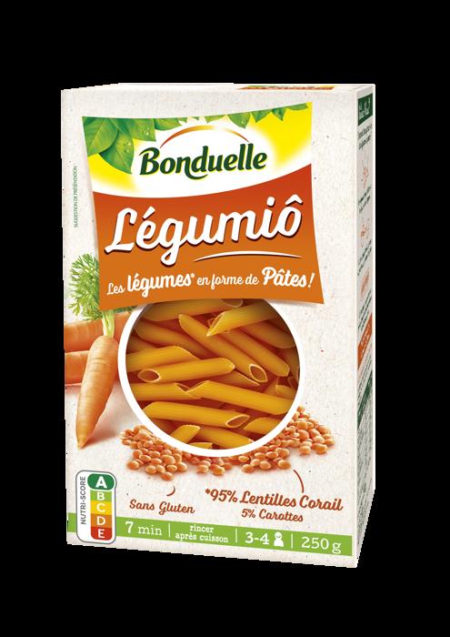 Legumiô - Lentilles Corail et Carottes en Penne