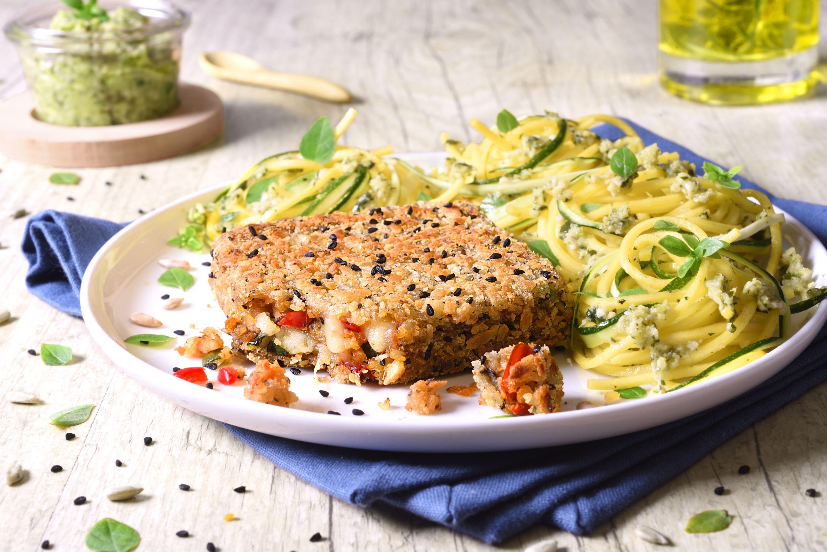 VeggissiMmm! Pavé croustillant - Légumes du soleil, Boulgour, à la Mozzarella