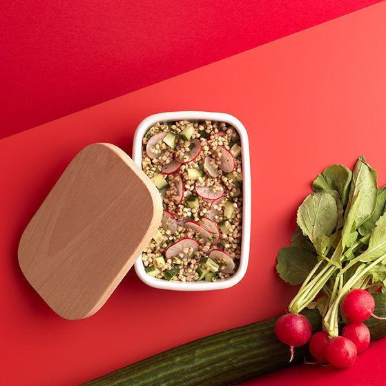 Salade de sarrasin, concombre et radis