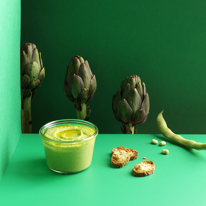 Tartinade d'artichaut aux fèves