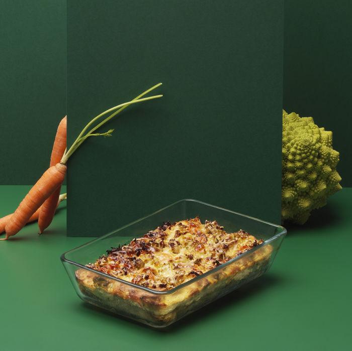 Gratin de pain au romanesco et carottes