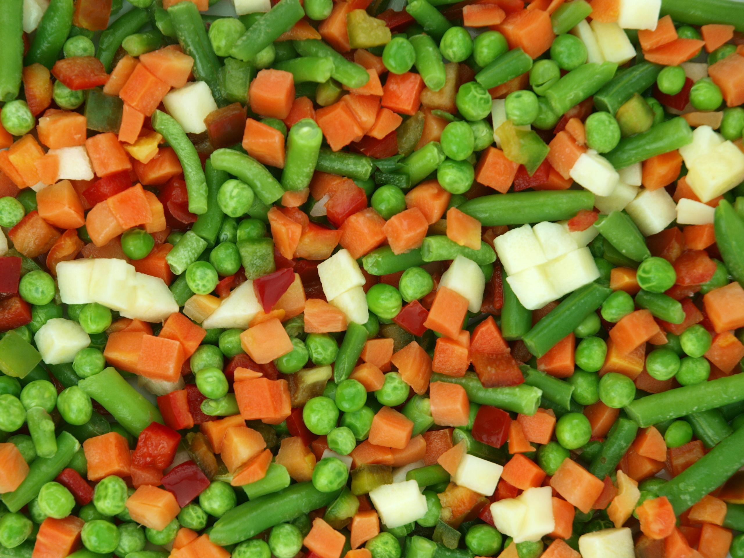 Macédoine de légumes en conserve