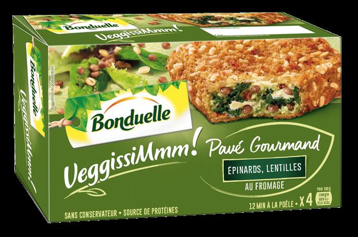 VeggissiMmm! Pavé gourmand - Epinards, lentilles, au Fromage