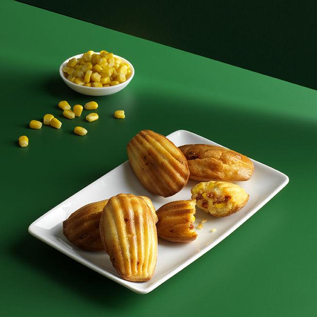Madeleines au maïs et chorizo