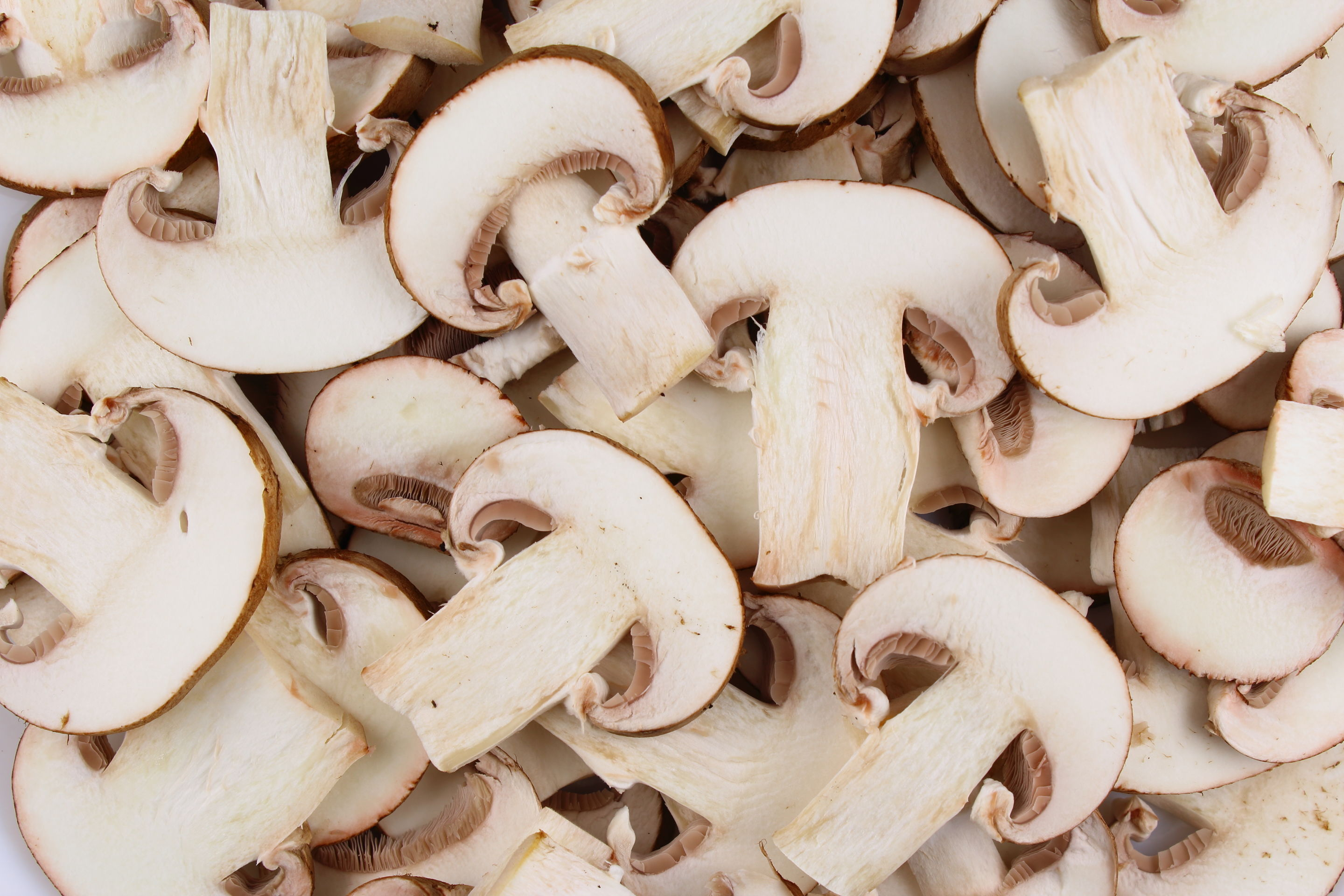 Paris mushrooms, thickly sliced
