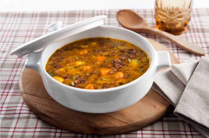 Ricetta Zuppa Di Lenticchie E Patate Con Zucca Bonduelle